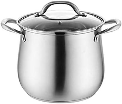 株式ポット、キャセロール鍋、ステンレス鋼のスープ鍋蓋付き鍋料理、Stockpot耐熱ダブルハンドル付き (Size : 28*28.5cm)