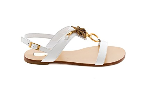 Patent Sandal Bianco Raggini Messing Montering Med Antonio gaEqT
