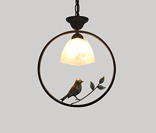 DEN Nordic creative personality bar dining room foyer entrance chandeliers,C,Single head by DEN