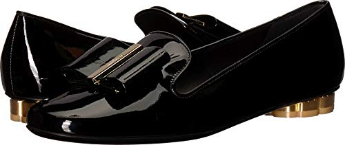 (Salvatore Ferragamo Women's Sarno Bow Loafer Nero Patent 6.5 B US)
