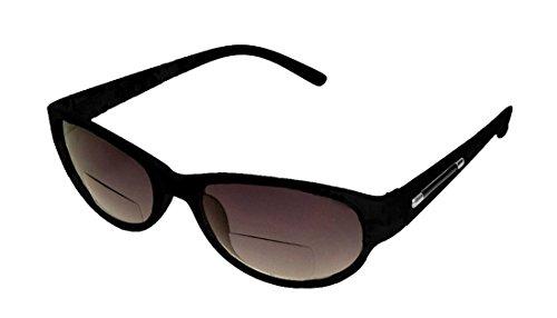 [Rodeo New Yorker Casual Work Style Bi Focal Reader Sunglasses (Slate, 3.00)] (Women Tinted Bifocal Readers)