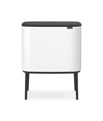 Brabantia 313547 Bo Trash Can, 11 + 23 L, White ()