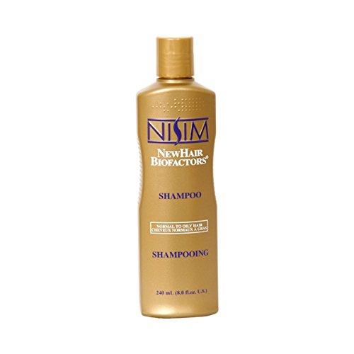 Nisim NewHair Biofactors Shampoo Oily 240ml, schneller Haarausfall Stopp, Haar normal bis ölig