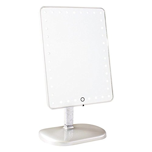 (Impressions Vanity Makeup Vanity Mirror with Lights and Bluetooth Speakers | BB Platinum TouchPro Makeup Mirror w Bluetooth & USB)