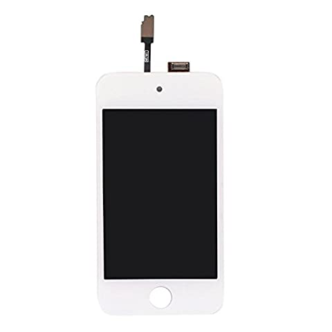 Eachbid LCD Digitizer Glass Touch Screen Assembly Replacement for iPod Touch 4th Gen White (Ipod 4 Screen Glass)