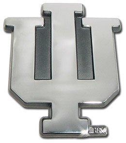 Indiana University Hoosiers ''IU'' Chrome Plated Premium Metal Car Truck Motorcycle NCAA College Emblem by Elektroplate