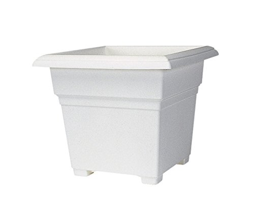 plastic plant pot white - 6