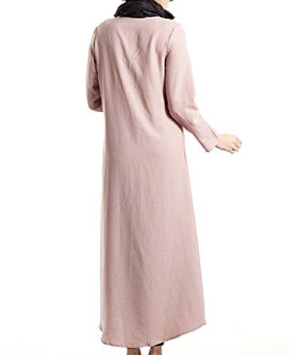 Coolred-femmes Chemises Unique Poitrine Musulman Mulit Robe Maxi Vogue Couleur Rose