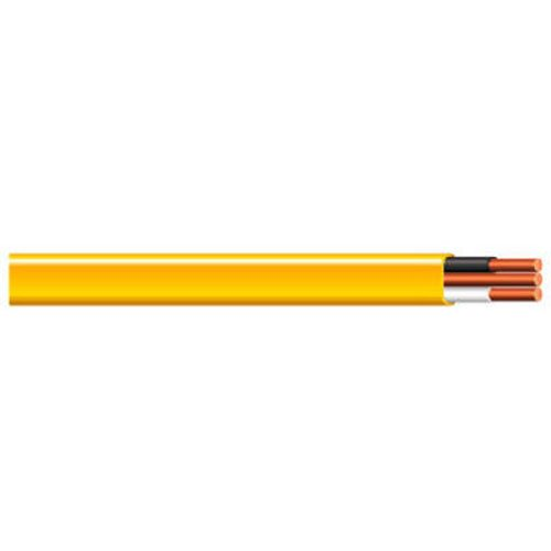 (Cerrowire 147-1602CR 100-Foot 12/2 NM-B Solid with Ground Wire, Yellow)