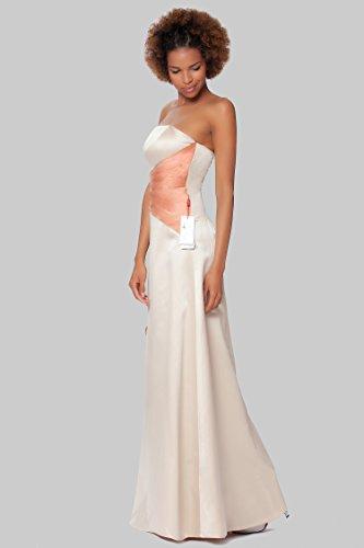 cuerpo Gorgeous de damas SEXYHER sin honor Beige las formal noche EDJ1604 Encuadre de vestido entero de de tirantes qtwwHdSz