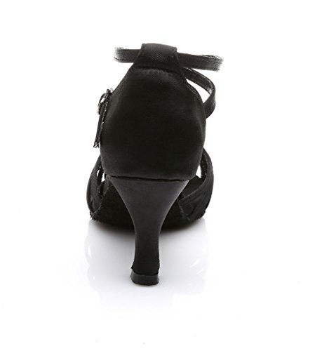 Womens Dance Shoes Latin Ballroom Black IL8txJ