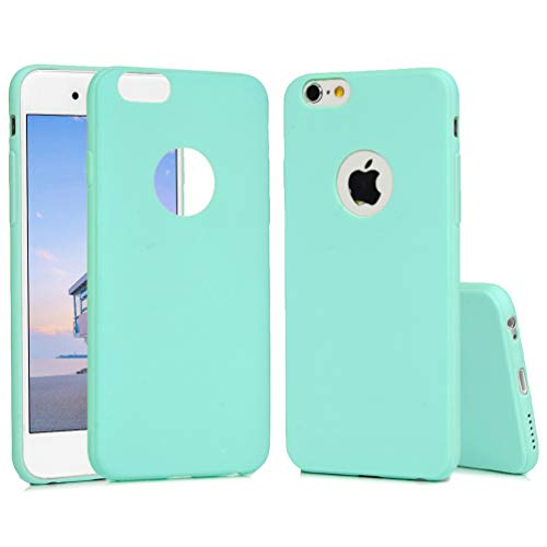 iPhone 6S Case, iPhone 6 Soft TPU Case Stylish Candy Color Logo Cut-Out Slip Resistant Case Soft Flexible Shock-Absorption TPU Bumper Shell Ultral Slim Lightweight Rubber Gel Cover for iPhone ()