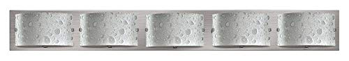 (Hinkley 5925BN-LED2 Contemporary Modern Five Light Bath from Daphne collection in Pwt, Nckl, B/S, Slvr.finish,)