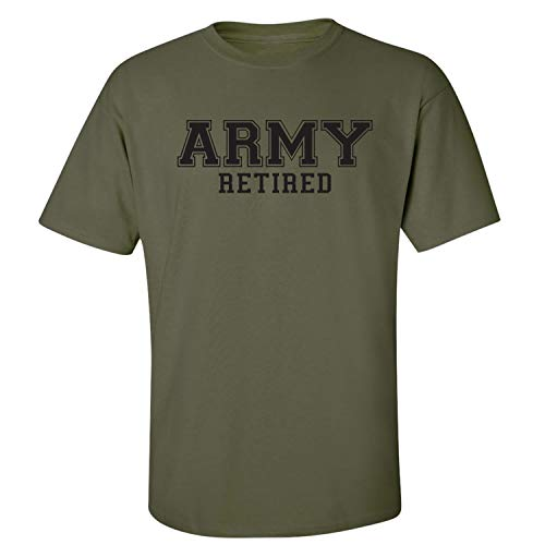 Army Retired Short Sleeve T-Shirt in Military Green - X-Large