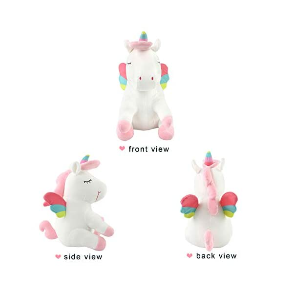 Athoinsu 13 inch Pink Plush Stuffed Fluffy Unicorn Animal Toy Ideal Gift Birthday Present for Girls Aged 3-10 Years Old or As Valentine's Gift for Lovers 5