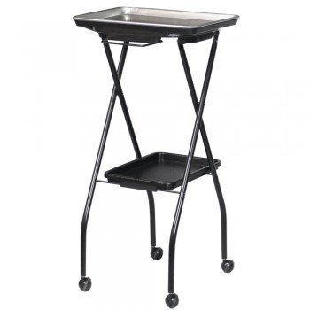 Kayline FT59-A Aluminum Top Salon Color Service Fold A Way Tray W/ Towel Bar and Lower Shelf. Made in the USA + Free YS Park Chignon Clipes ($13 value) ProHairTools