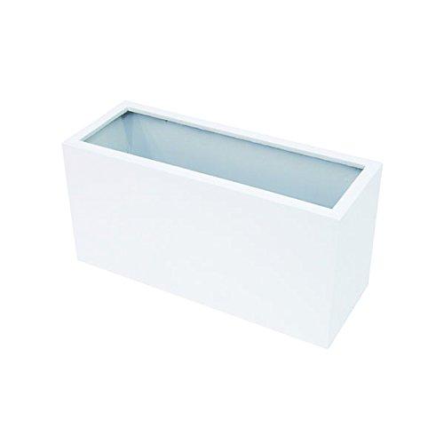 Übertopf ALANO, weiß, glänzend, 80 x 30 x 40 cm - Blumenkasten / Pflanzkasten - monsterkatz