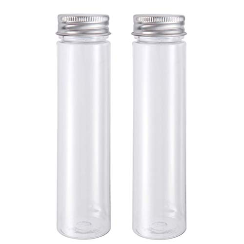 110 Ml Water - POPETPOP Freshwater Master Test Kit,2PCs Flat-Bottomed Plastic Clear Test Tubes with Screw Caps, Candy Cosmetic Travel Lotion Containers 110ml