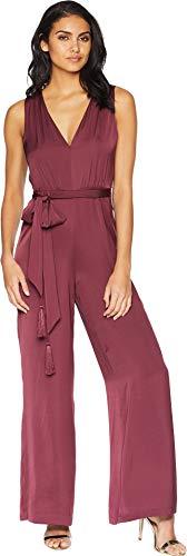 BCBGMAXAZRIA Women's Cahya Tie-Waist Jumpsuit Vnetnrose Large ()