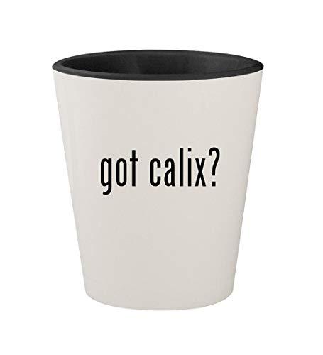 got calix? - Ceramic White Outer & Black Inner 1.5oz Shot Glass