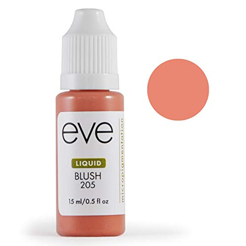 (Eve Pigment Liquid - Premium Grade Permanent Makeup & Microblading Color Pigment for Eyebrow or Lip - Made in the USA with FDA approved colorants - Vibrant Color - 15ml (Blush))