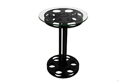 Bon Home Theater Reel Table   Steel New U2013 Cinema Style Film Reel Table   End  Table