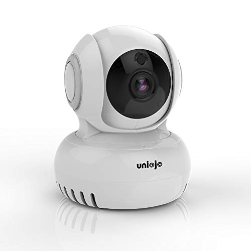 UNIOJO 1080P FHD WiFi IP Security Camera Wireless Indoor Camera Compatible with Alexa, Cloud Service Available, Motion Detection, 2-Way Audio Surveillance Monitor for Baby Elder Pet