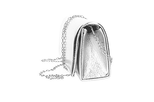bag MOON woman button MICHELLE elegant Clutch opening VN2333 ceremony silver CSqwAXXZ
