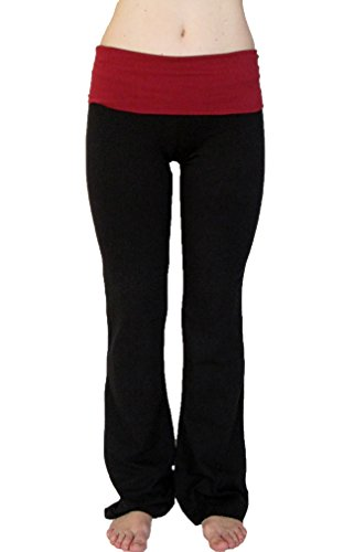 Popular Basics Women's Cotton Yoga Pants With
