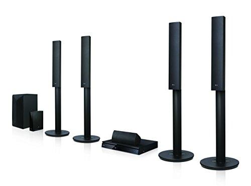 LG LHA755W 5.1 3D Blu-ray Heimkinosystem (1000 Watt, kabellose Rücklautsprecher, Smart TV, DLNA, Bluetooth, 1080p Upscaling) schwarz