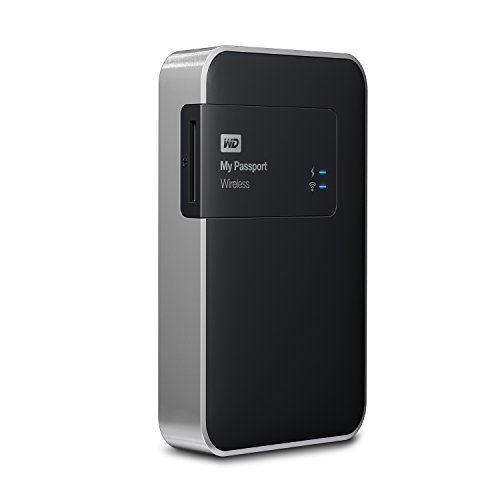 WD 1TB  My Passport Wireless Portable  External Hard Drive  - WIFI USB 3.0  - WDBK8Z0010BBK-NESN