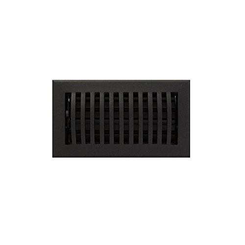 4x8 black floor register - 4