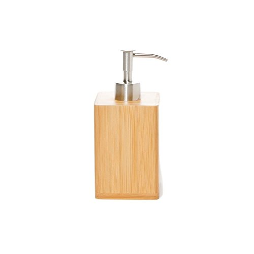 Gedy Gedy BA81-35 Square Wood Soap Dispenser, Natural