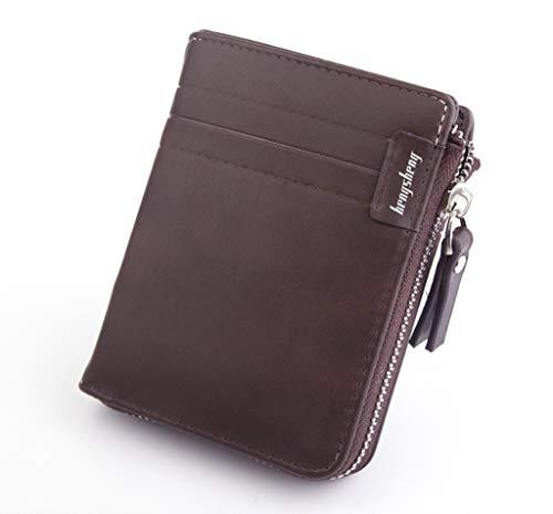 Wallet, XEDUO Men Wallets Coin Purse Clutch Hasp Retro Short Wallet Package Multi-card Holder (Brown)