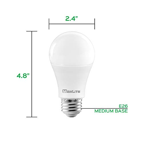 MaxLite A19 LED Bulb, Enclosed Fixture Rated, 100W Equivalent, 1600 Lumens, Dimmable, E26 Medium Base, 2700K Soft White, 16-Pack