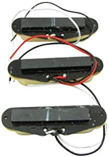 Musiclily 48/50 / 52MM Pastillas de arranque simple bobina para Fender Stratocaster Guitarra eléctrica, cubierta de crema: Amazon.es: Instrumentos musicales
