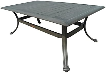Panama Jack PJO-1501-GRY-CT Newport Beach Rectangular Coffee Table, Grey