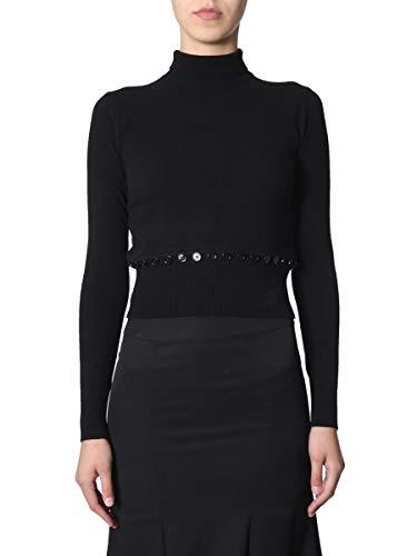 Alexander McQueen Women's 585092Q1ac41000 Black Wool Sweater