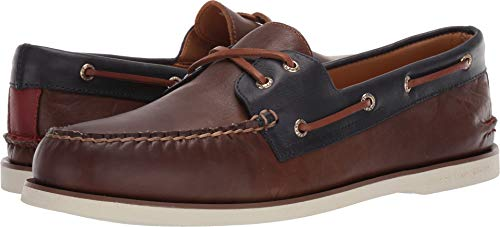SPERRY Men's Gold Cup A/O 2-Eye Fairhaven Brown/Navy 10.5 W US