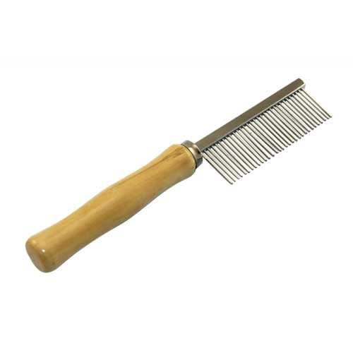 Wooden Handle Grooming Comb for Dog Cat Pet
