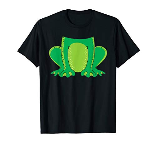 Frog Costume Halloween Easy Cosplay Last Minute Quick Outfit T-Shirt