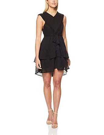 Three of Something Women's Lovers Stripe Dress, Black, Extra Small