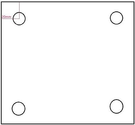 Edelstahlplatte Ankerplatte Blechplatte 120x200x10 mm ohne Bohrung