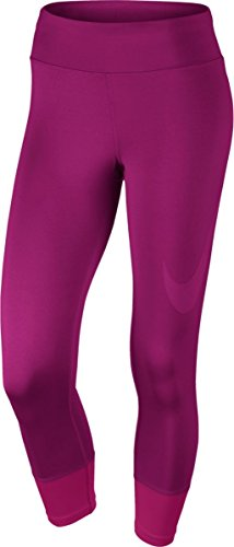 Nike Women's Power Essential Crop Tight - X-Large - True Berry