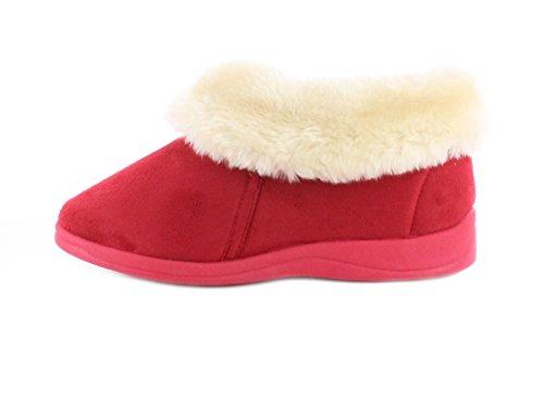 Donna Dunlop Bessie Falsa Pelliccia Alla Caviglia Pantofola A Stivale