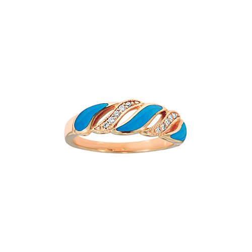 Kabana 14K Rose Gold Diamond and Turquoise (Kabana Rose Ring)