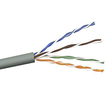 Belkin 250-Foot Cat5e PVC Stranded UTP Bulk Networking Cable (Gray)
