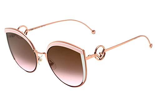 Fendi Ff 0290 S - Óculos De Sol 35J 53 Dourado E Rosa Brilho