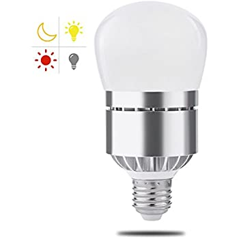 Dusk To Dawn Light Bulb, Witshine 100W Equivalent E26 3200K LED Photo  Sensor Light Bulb