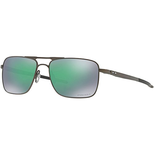 Oakley Men's Titanium Man Square Sunglasses, Pewter, 57 mm